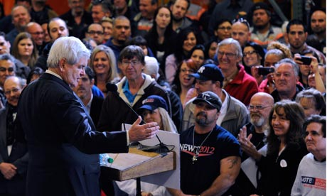 Newt Gingrich holds rally In Las Vegas