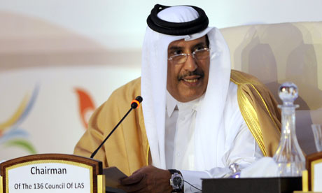 Sheikh Hamad bin Jassem al-Thani  speaks at the first