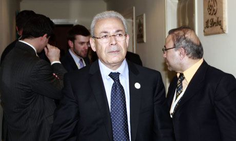 Chairman of the Syrian opposition transitional national council Burhan Ghalioun in Tunis