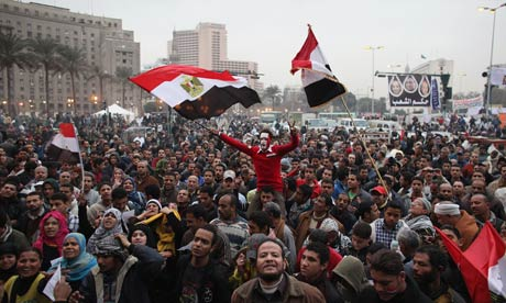 Egyptians Prepare In Tahrir Square For The First Anniverary Of The Revolution