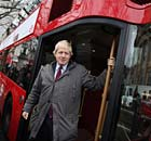 Boris Johnson and one of his new Routemaster buses