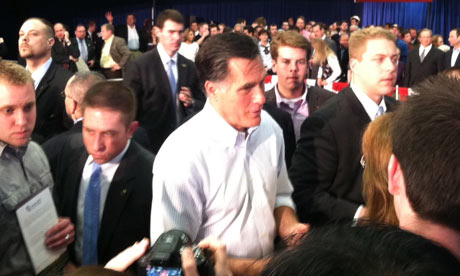 Mitt Romney campaigns in Bexley, Ohio