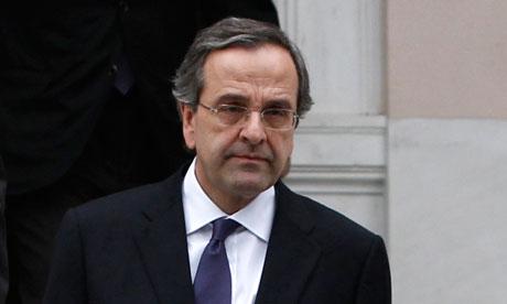 Conservative party leader Antonis Samaras