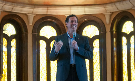 Rick Santorum speaks at the Bella Donna Chapel in McKinney, Texas.