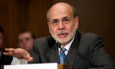 Outgoing Federal Reserve charmain Ben Bernanke before the United States Senate Committee on Banking, Housing, and Urban Affairs., From ImagesAttr