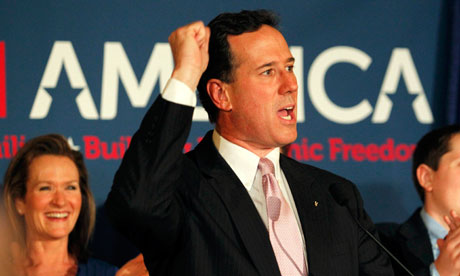 Rick Santorum at Louisiana victory rally