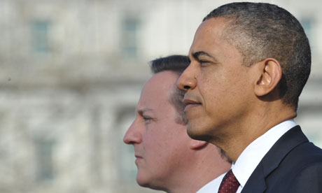 US president Barack Obama and British prime minister David Cameron