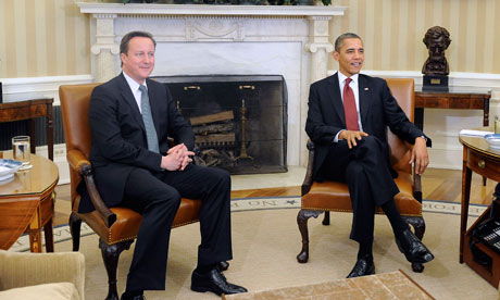 Barack Obama and David Cameron in the Oval Office