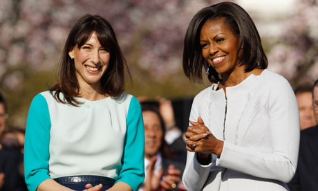 Samantha Cameron and Michelle Obama at the White House