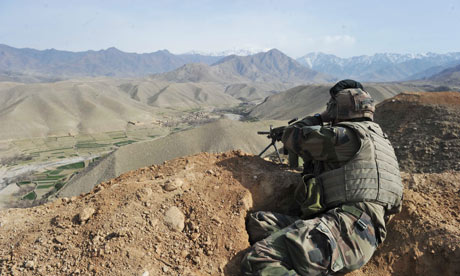 Afghanistan: French Nato troops patrol