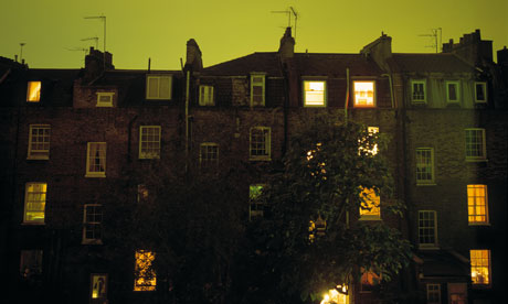Homes in Camden at night