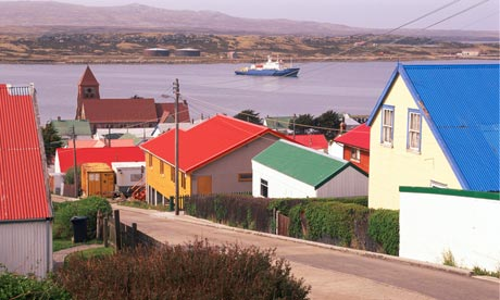 Port Stanley in the Falkland Islands