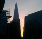 The Shard under construction in London. Photograph: Paul Owen