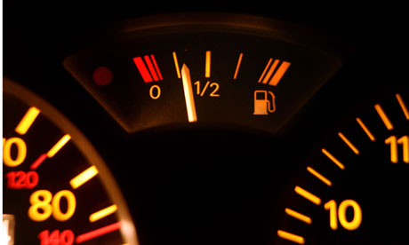 Petrol gauge in a car