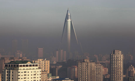Ryugyong Hotel in Pyongyang, North Korea