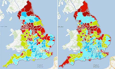 Experian poverty maps of England