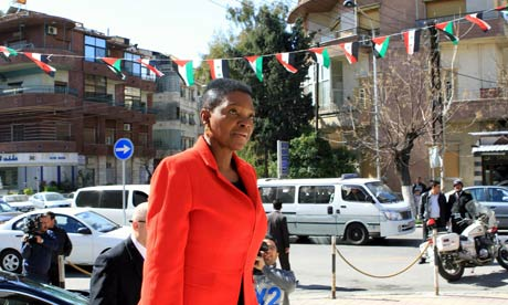 UN humanitarian chief Valerie Amos in Syria