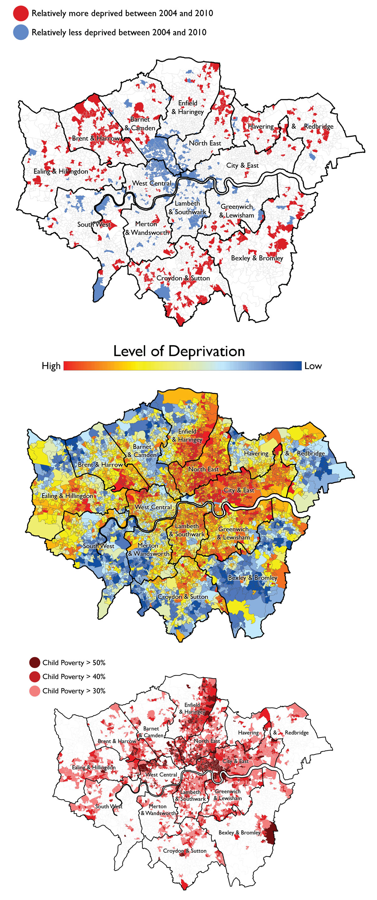 Map Of London With Neighborhoods.Deprivation And Poverty In London Get The Data Uk News