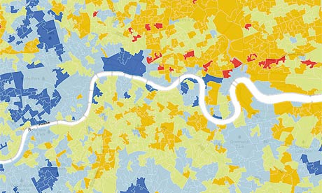 London deprivation map