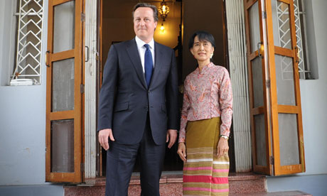 David Cameron meets Aung San Suu Kyi in Burma