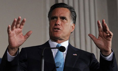 Mitt Romney at tea party event