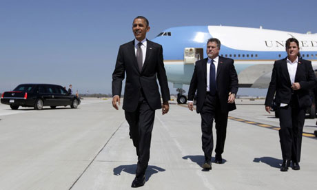 Barack Obama lands in Ohio