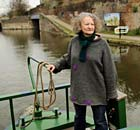 Jenny Jones on her barge.
