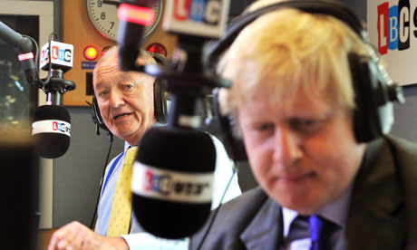 Ken Livingstone and Boris Johnson in LBC mayoral debate