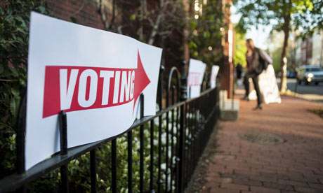 Voting sign in Georgetown, DC