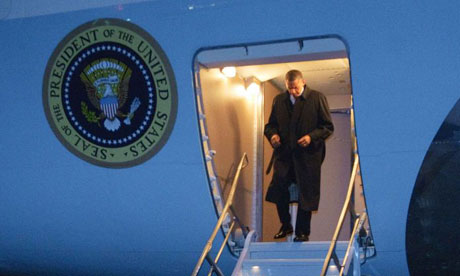 President Obama arrives in Afghanistan