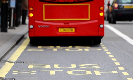 A London bus.