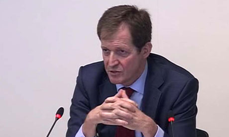 Alastair Campbell at the Leveson Inquiry on 14 May 2012.