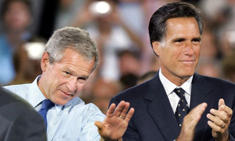Mitt Romney and George Bush