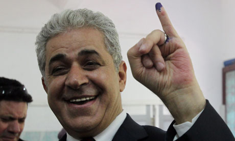 Hamdeen Sabahy after voting in Egypt's presidential elections