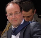Francois Hollande in Afghanistan
