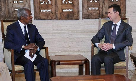 Kofi Annan and Bashar al-Assad