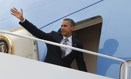 Barack Obama on Air Force One
