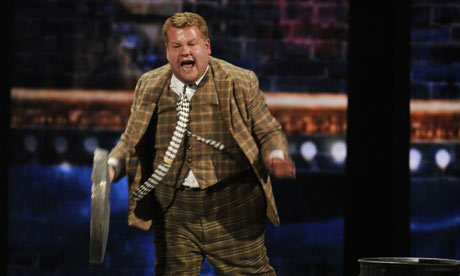 James Corden performs in a scene from One Man, Two Guvnors