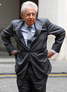 Italy's Prime Minister Monti