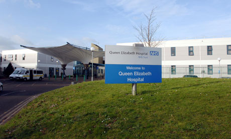 Queen Elizabeth hospital in Woolwich is one of three hospitals run by South London Healthcare Trust