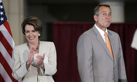 Nancy Pelosi and John Boehner