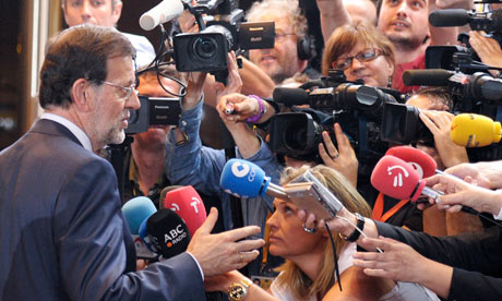 Spain's Prime Minister Rajoy in Brussels
