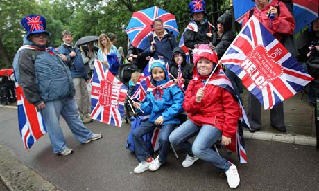 Jubilee: Revellers queue to enter a Jubilee Party in Battersea