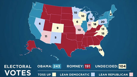 Obama campaign reelection map