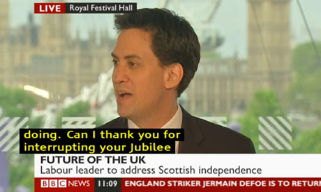 Ed Miliband speaking on 7 June 2012.