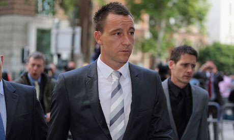 Chelsea captain John Terry arrives at court for the closing arguments in his racial abuse trial