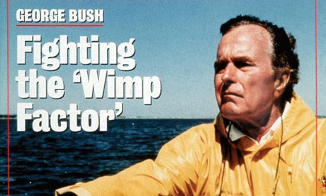 George Bush 'Wimp factor' Newsweek cover