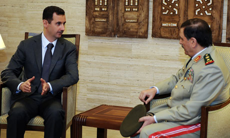 Bashar al-Assad with Fahd al-Freij