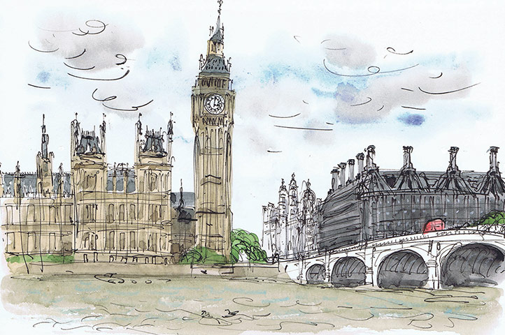 David Gentleman on his year drawing London - gallery ...
