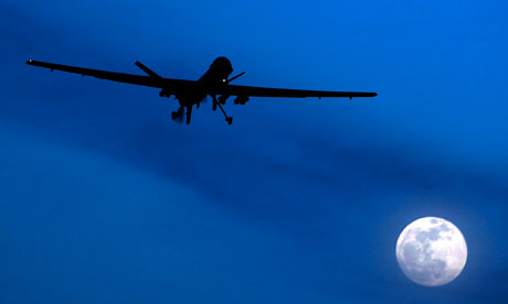 An unmanned US Predator drone flies over Kandahar in southern Afghanistan